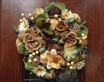 Neutral Anytime Wreath
