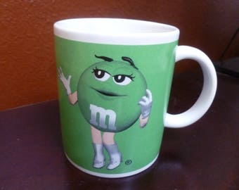 Green M&M mug Mars Inc