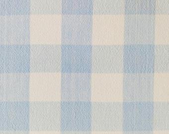 "Blue Plaid Tablecloth 46"" x 61"""