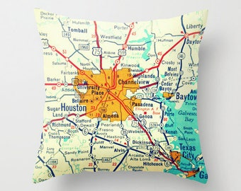 Connecticut Map Pillow Cover Custom Connecticut Map Any City