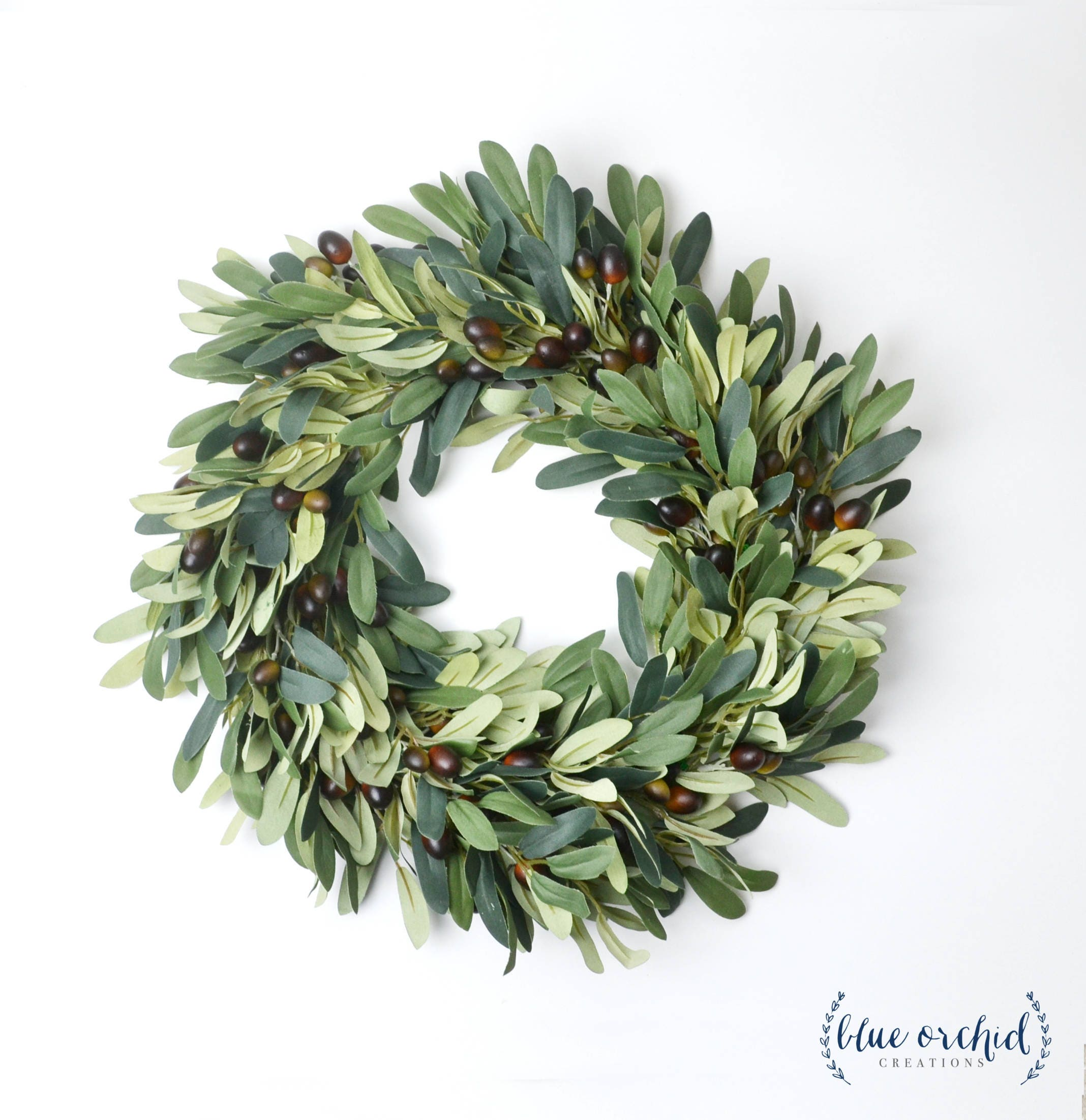 Olive Branch Wreath Silk Wreath Faux Wreath Farmhouse