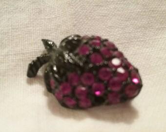 Strawberry Rhinestone Pin