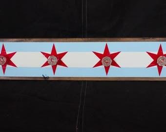 Chicago Flag Coat/Accessory Rack