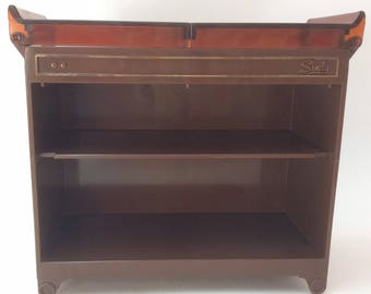 Vintage 1970's Sindy Pedigree Brown Hostess Trolley - Retro Dollhouse Furniture