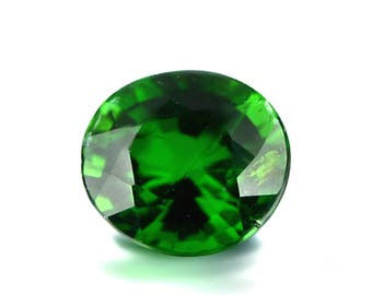0.54ct Chrome Green Tourmaline 5x4mm Oval Shape Loose Gemstones (Watch Video) SKU 609A008