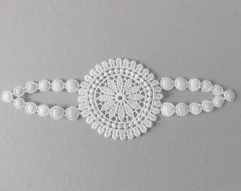 14 x 5 cm white lace applique