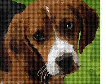 Needlepoint Kit or Canvas: Beagle Puppy