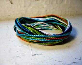 Colorful Threaded Simple Anklet//Ankle Bracelet