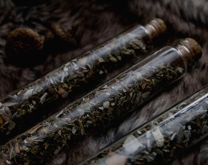 Featured listing image: EYRIE CO. // White Wolf Loose Incense // White Sage, Blue Sage, Peppermint, Tansy, White Willow Bark