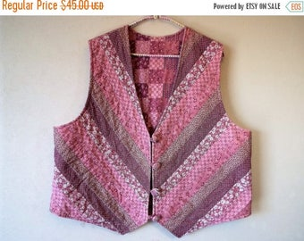 Celebrate Vintage Vest Pieced and Quilted Rose Pink