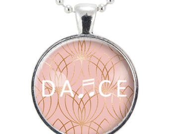 Dance Necklace, Gift Ideas For Dancer, Ballerina Gift, Dance Recital Gifts, Ballet Lover Present (2741S25MMBC)