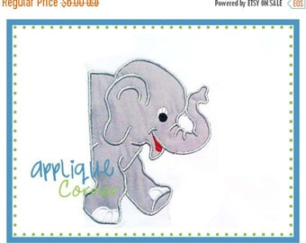 40% OFF 124 Elephant 2-piece front and back side design applique digital design for embroidery machine by Applique Corner