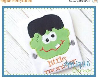 40% OFF 191 Trick or Treat Halloween Little Monster Frankenstein applique digital design for embroidery machine by Applique Corner