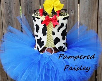 PRE HALLOWEEN SALE, Halloween tutu,  Jessie inspired Toy Story tutu dress, Cowgirl tutu, Jessie tutu, Toy Story Party,Halloween Costume