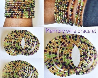 Colorful memory wire bracelet