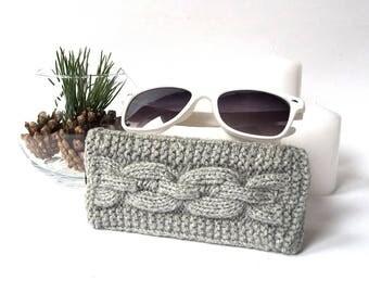 Grey Glasses Case. Eyeglasses Case. Eyeglasses Holder. Sunglasses Case. Sunglasses Holder. Spectacles Case. Glasses Holder.