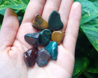 Set of 4pcs Fancy Jasper Crystals Tumbled Stones Reiki Charged Metaphysical Crystal Healing Mama Earth Grounding Nurturing Shaman Protection