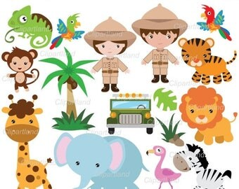ON SALE INSTANT Download. Safari. Jungle animals 7. Personal and commercial use.