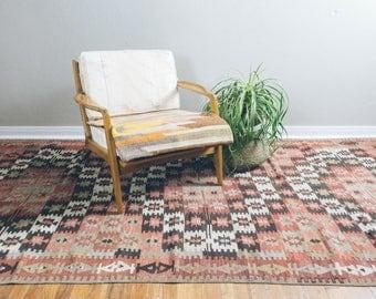 5x11 Vintage Turkish Kilim Rug