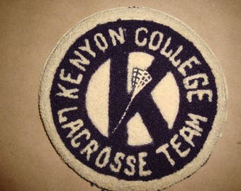 Circa 1946 Kenyon College Lacrosse Team Athletics Letter.