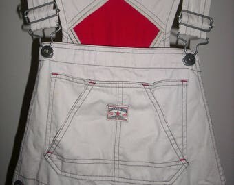 FREE SHIPPING! London London off-white vintage overalls Small/Medium