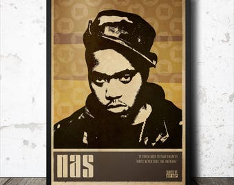 Nas Hip Hop Poster