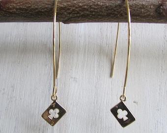 """ACE of clubs"" earrings"