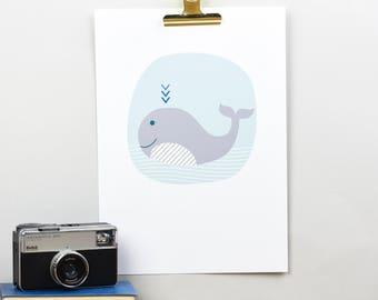 Nursery Children's Whale giclee print
