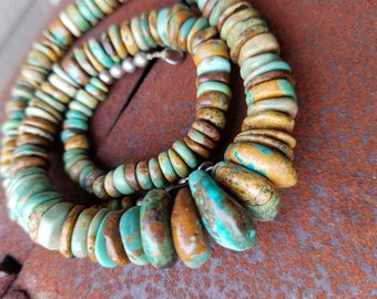 Turquoise necklace beaded