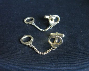 Handcuff cuff links cufflinks policeman gift law enforcement