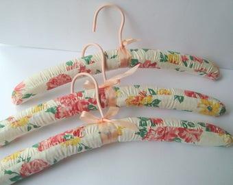 Vintage fabric clothes hangers
