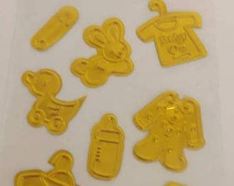 Foil Embossed Baby Stickers
