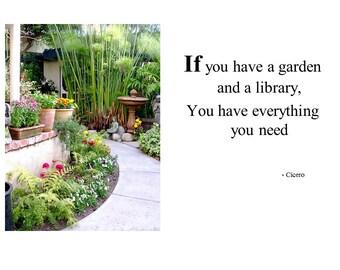 Inspirational Greeting Card* (I56)* If you have a garden *Fetta di Vita*Barbara Fetta