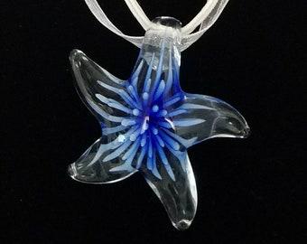 Glass Star Fish Pendant