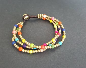 Chain Colorful  Stone  Bracelet