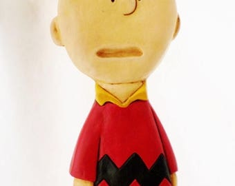 ON SALE Vintage, Charlie Brown, Peanuts Character, Chalkware or Plaster, Wall Hanging