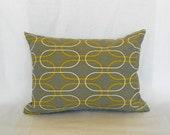 """CLEARANCE SALE 16""""x12""""  Lumbar Pillow Decorative Pillow Cover Grey Pillow Premier Prints Shiba Grey"""
