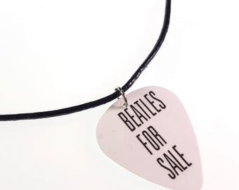 The Beatles BEATLES FOR SALE Album Cover Art Genuine Guitar Pick Necklace