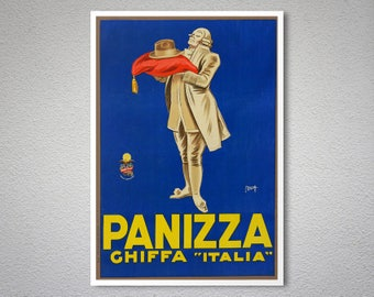 Panizza Vintage Poster by Maga - Poster Paper, Sticker or Canvas Print / Gift Idea