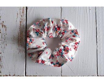 Cotton elastic scrunchie organic flower bouquets