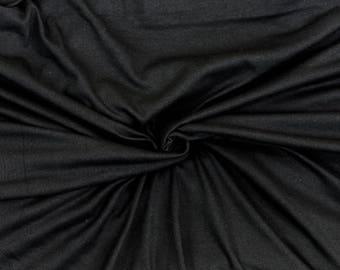 "100% Cotton Crotch Lining Black Fat Quarter 18"" x 22"""