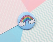 Cute Rainbow Pin Button Badge Wedding Favour Patches and Pins Kawaii Pin Kawaii Badge Button Pin