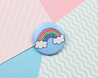 Cute Rainbow Pin Button Badge Wedding Favour Patches and Pins Kawaii Pin Kawaii Badge Button Pin