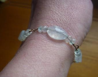opal beaded bracelet, ooak ecofriendly bracelet