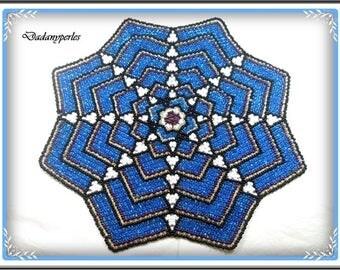 pattern bead weaving doily Céline