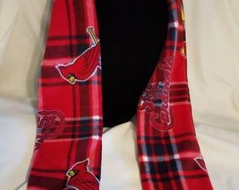 "Hand Crafted MLB St Louis Cardinals Fleece Scarf 58"" long"