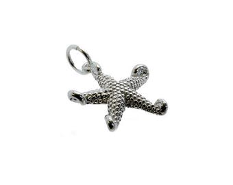 Sterling Silver Star Fish Charm For Bracelets