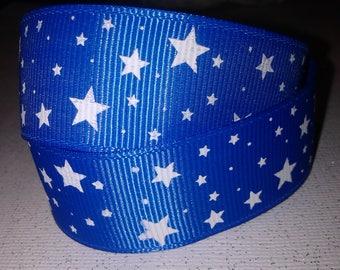 Blue Star Grosgrain Ribbon