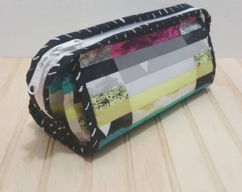 Sew Together Bag | Black + multi color Avant-garde | sewing bag | travel bag