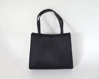 Pretty Ladylike Black Silk Bloomingdale's Evening Bag
